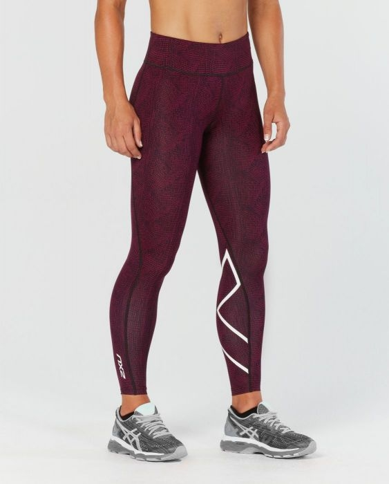 WOMEN MID RISE PRINT COMPRESSION TIGHTS