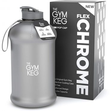 جالون ماء The Gym Keg كروم لماع عاكس